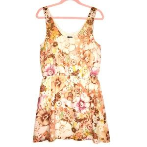 J Crew Multi Color Floral Sleeveless Silk Dress 6
